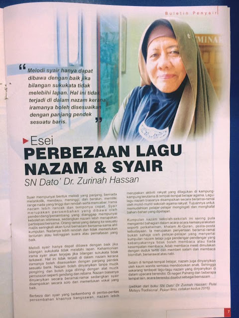 TALKING ABOUT MALAY TRADITIONAL POETRY